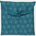 Lot de 2 taies d'oreiller en satin motif Jasmin - bleu 50x70cm-SOUN