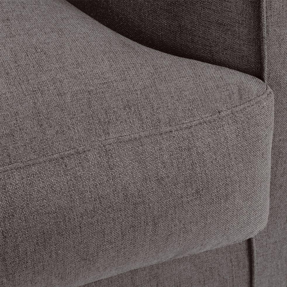 Canapé 2 places fixe en tissu - gris restanque-LENITA