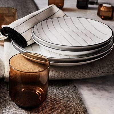 Gamme de vaisselle rayée en grès-RAYURE