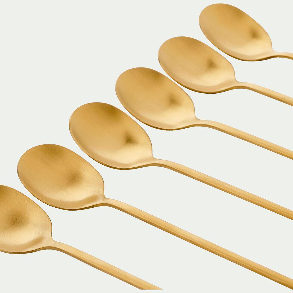 Coffret de 6 cuillères en inox doré-LUXE