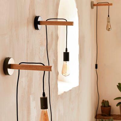 Applique en bois et métal - gris restanque-BASTIA