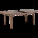 Table de repas extensible plaquée noyer - 4 à 10 places-ESTILA