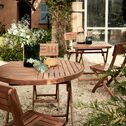 Table de jardin pliante en acacia (4 places)-YOUK