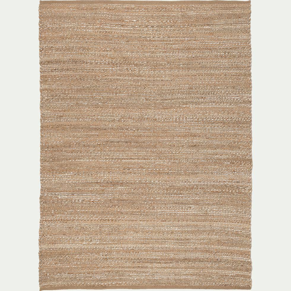Tapis en jute et coton recyclé - naturel 160x230cm-ADAM