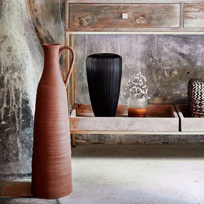 Vase en céramique finition sablée - rose argile H63,5cm-PAULINE