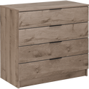 Commode 4 tiroirs chêne cendré-BROOKLYN