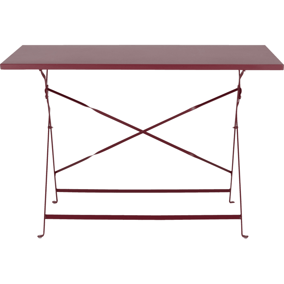 Table de jardin pliante rouge sumac L110cm (4 places)-CERVIONE