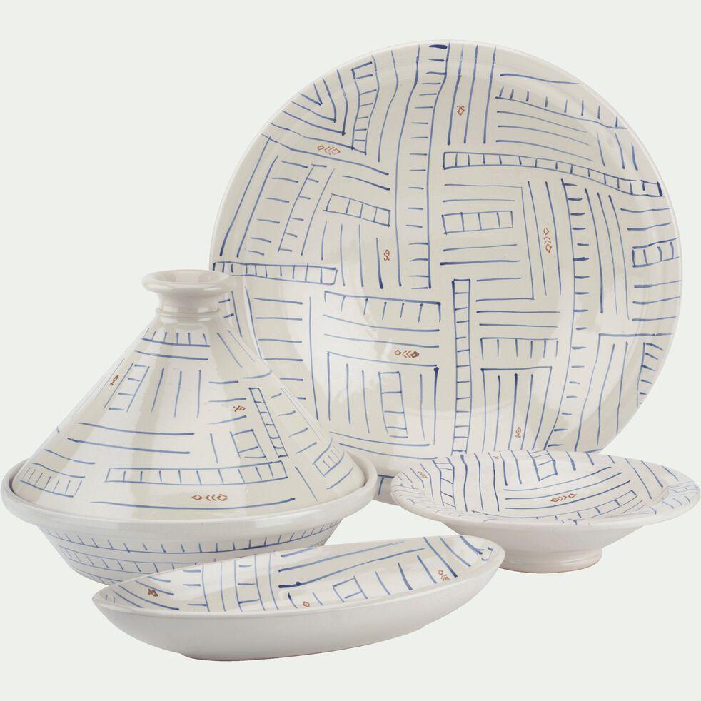 Assiette à couscous à motifs D22cm-SOUK