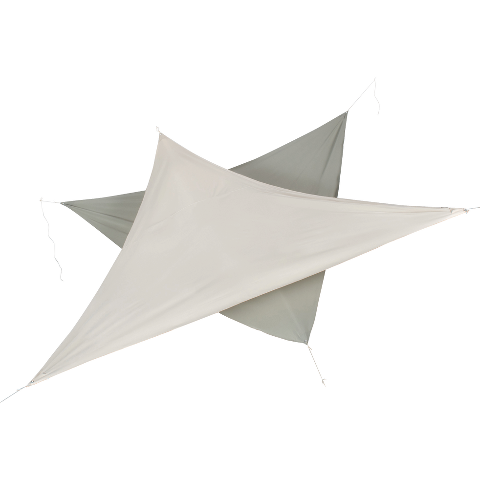 Voile d'ombrage triangulaire 3,5m vert olivier-ROSA