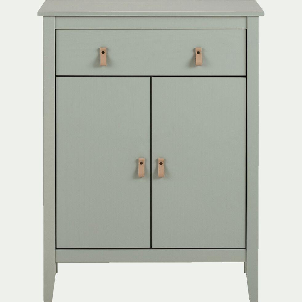 Meuble de rangement de chambre 2 portes et 1 tiroir - vert olivier-LISA