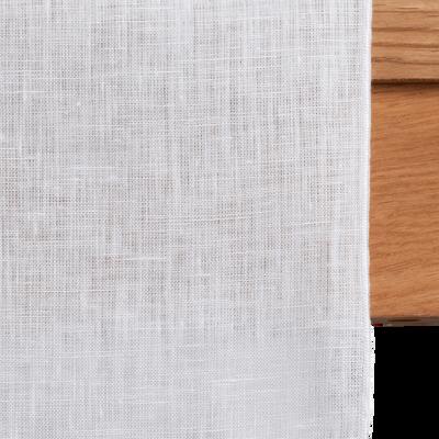 Chemin de table en lin et coton blanc nougat 50x150cm-MILA