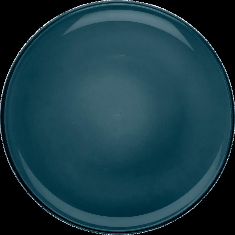 Assiette à dessert en faïence bleu figuerolles D20cm-LANKA