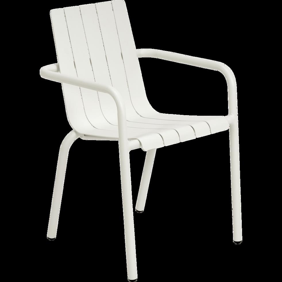 chaise de jardin empilable en aluminium blanc cenoza alinea. Black Bedroom Furniture Sets. Home Design Ideas