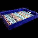 Plateau en plastique laqué décoré 46x30cm-TEL