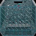 Caisse de rangement en acier bleue L36xl26xH22cm-TANIS