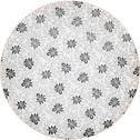 Assiette à dessert en grès décoré gris borie D21cm-JASMIN