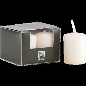 4 bougies votives blanc nougat-HALBA