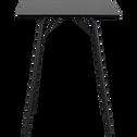 Mange-debout carré noir - 4 places-DENYS