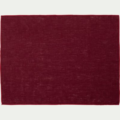 Set de table en lin et coton rouge sumac 36x48cm-MILA