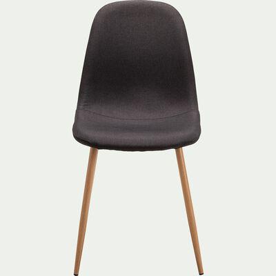 Chaise en tissu noir-CHARLINE