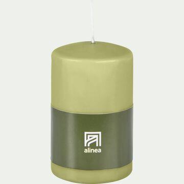 Bougie cylindrique - vert garrigue H11cm-HALBA