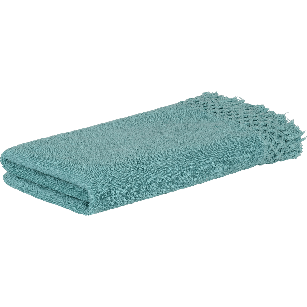 Serviette 45x90 cm bleu turquoise-LYNA