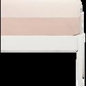 Drap housse en coton lavé sable rose 90x200 cm-CALANQUES