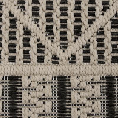 Tapis extérieur et intérieur beige et noir 120x170cm-JERSEY