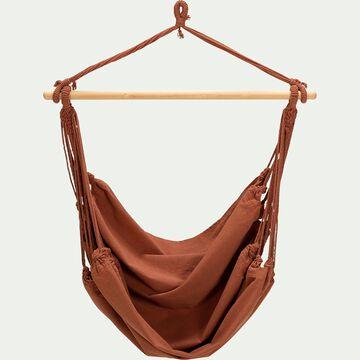 Fauteuil suspendu en coton - marron rustrel (1 personne)-PIANA