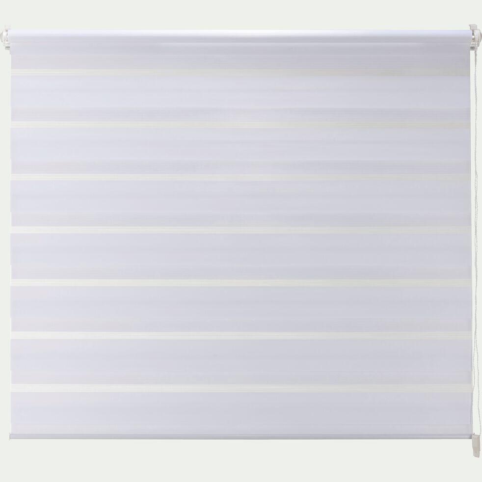 Store enrouleur tamisant blanc 92x190cm-JOUR-NUIT