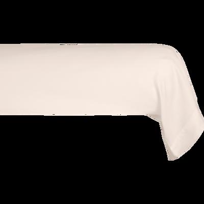 Taie de traversin en satin Rose grège rayé - L185 cm-SANTIS