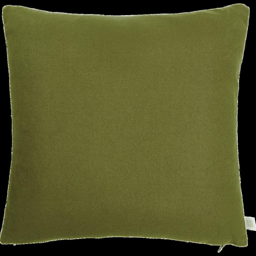 Coussin en coton vert 40x40cm-CALANQUES