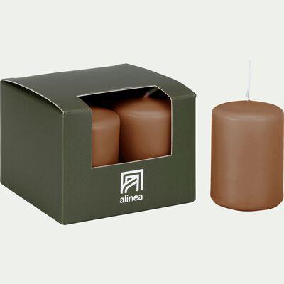 4 bougies votives brun albe-HALBA