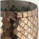 Photophore en verre cuivré H16cm-Sapmi