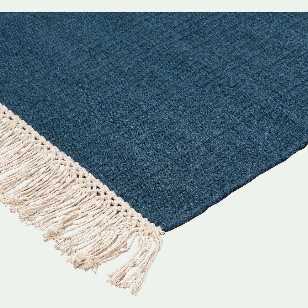 Tapis en laine bleu figuerolles - plusieurs tailles-ULISSE