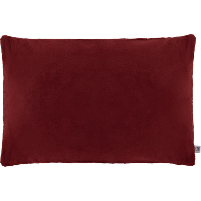 Housse de coussin effet doux rouge sumac 40x60cm-ROBIN