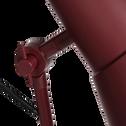 Lampadaire en métal rouge sumac H140cm-BEYA