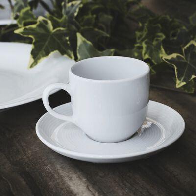 Tasse avec sous-tasse en porcelaine qualité hôtelière blanc 12cl-ETO
