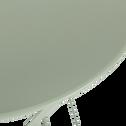 Table basse de jardin pliante vert olivier en acier-CERVIONE