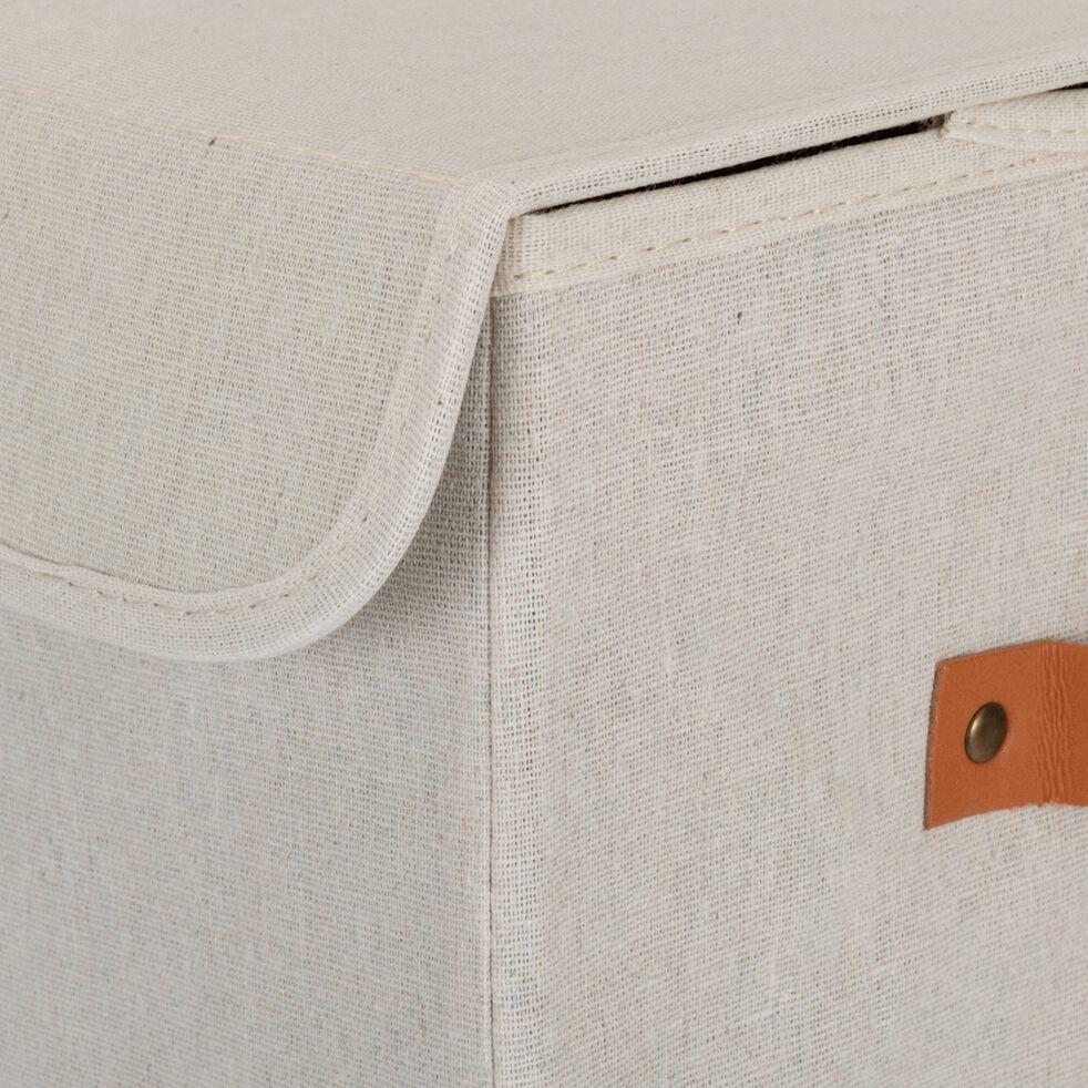 Panier à linge double blanc H50cm-ERRO