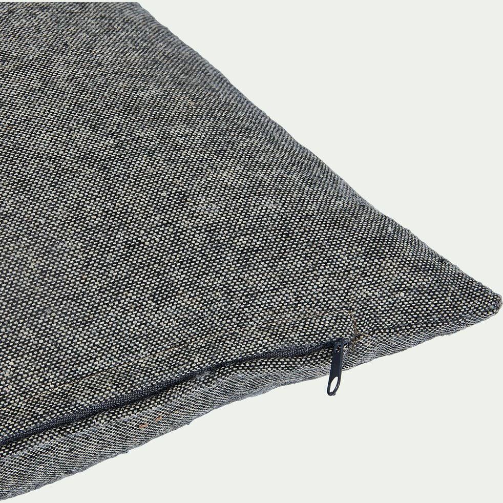 Coussin chambray en polyester - gris 30x50cm-CORBIN