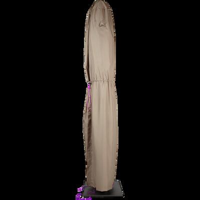 Protection taupe pour parasol déporté (L45xP45xH240cm)-HOUSSE