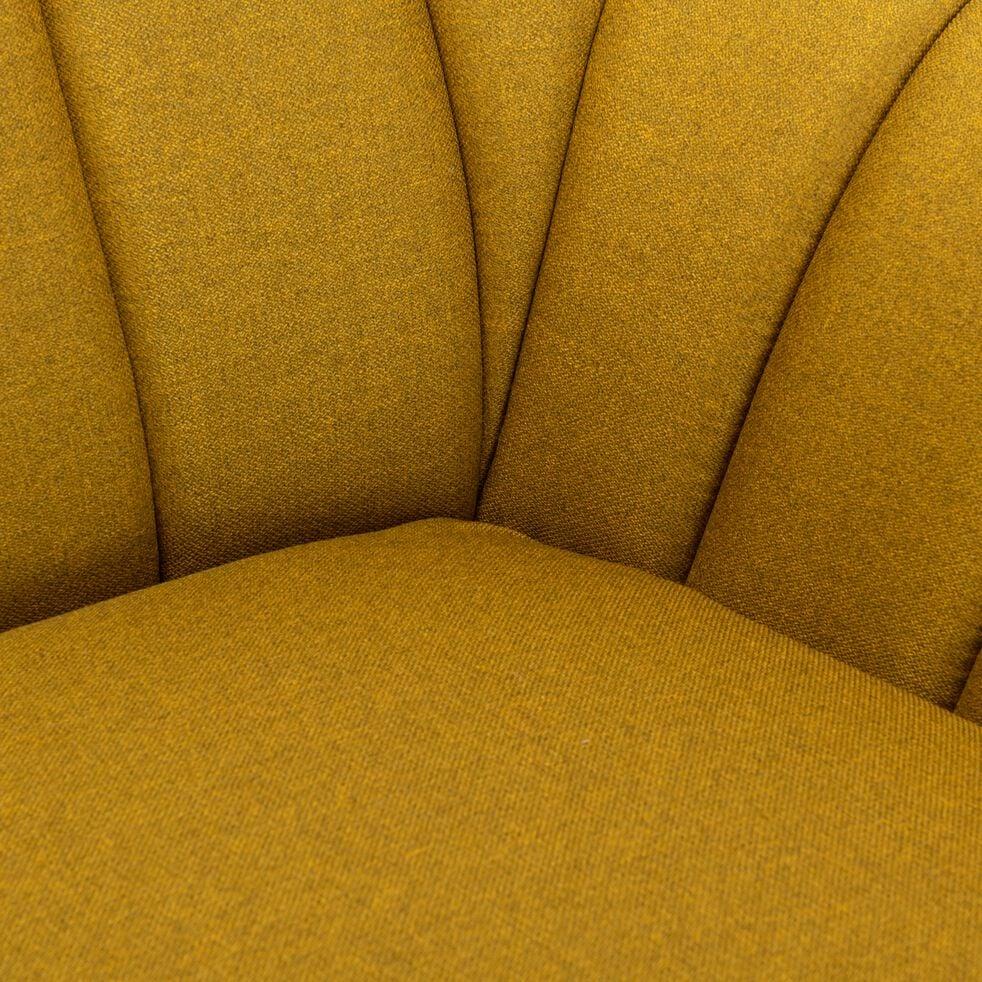 Fauteuil en tissu - jaune argan-SHELL
