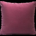 Coussin en coton gaufré rouge sumac 45x45cm-GOYA