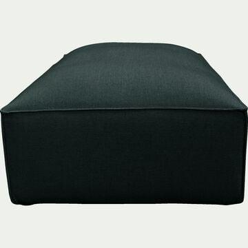 Petit pouf en tissu - L80xH40xl70cm vert cèdre-REVERE