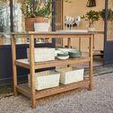 Meuble de cuisine extérieure à tablettes en acacia - L108xl58xH85cm naturel-CARLO