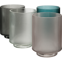 Photophore en verre gris D7xH8cm-Axios