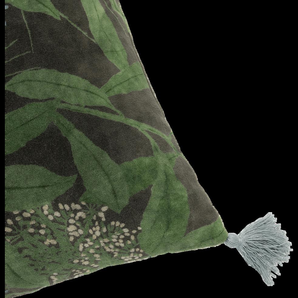 Coussin à pompons vert cèdre 40x40cm-OMBRAGE
