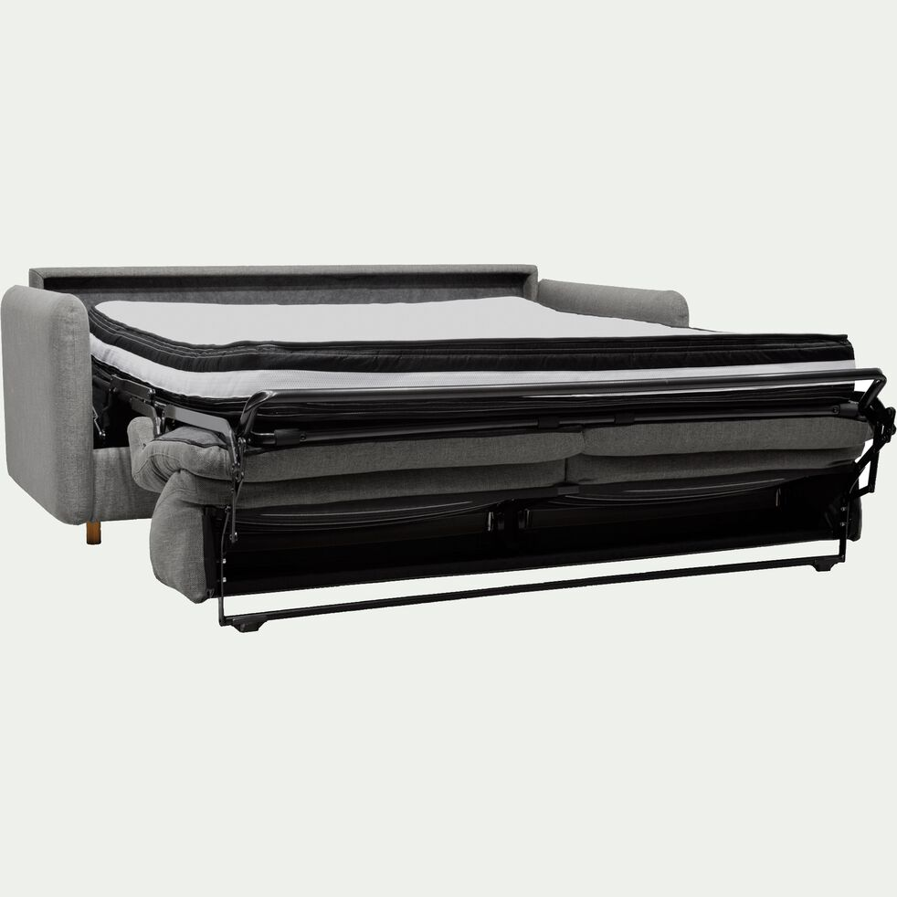 Canapé 4 places convertible en tissu gris borie-MORPHEE