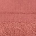 Drap de bain 100x150cm en coton rose-MINH
